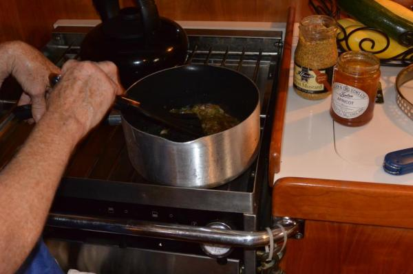 09 saute shallots and rosemary