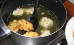 conch fritters frying