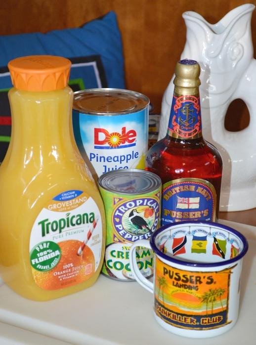 pusser's pain killer ingrediants