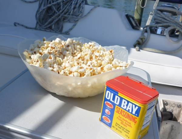 in the cockpit with Old Bay