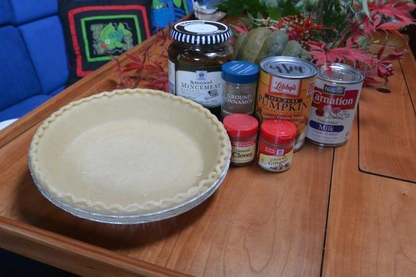 pumpkin mincemeat pie ingredients