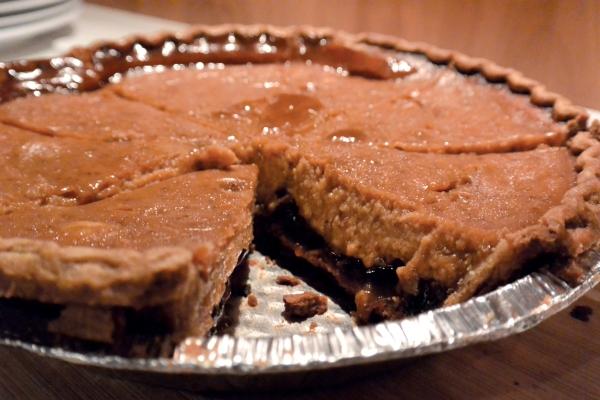 pumpkin mincemeat sliced