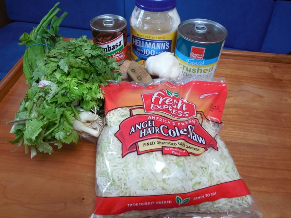 Slaw ingredients 2