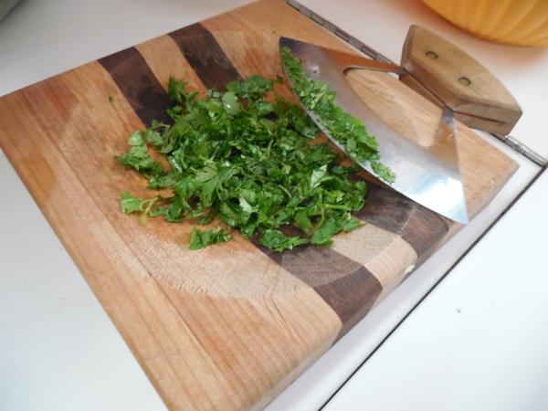 Slaw cilantro minced