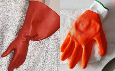 Lady Gaga red gloves