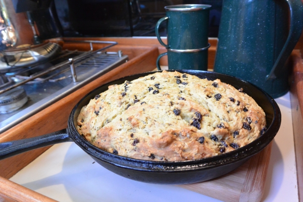soda bread in pan