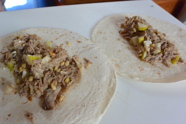 making the burritos