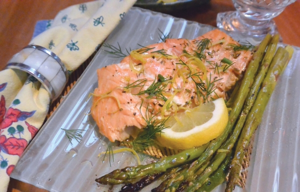 salmon on plate 2