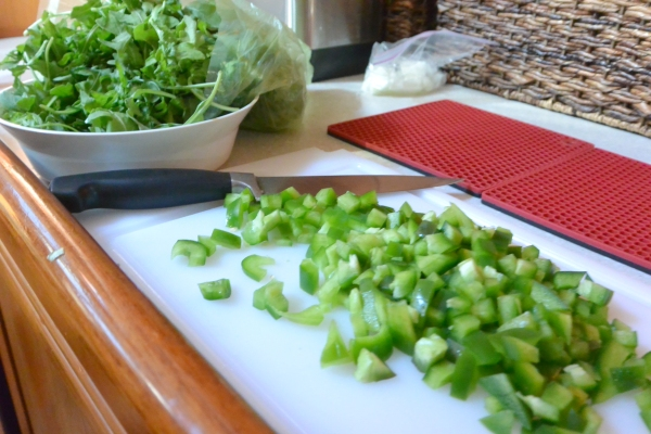 arugula and green pepper