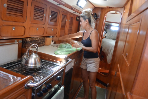 beautiful Torie in her beautiful galley