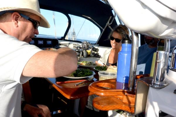 doug and Torie eating