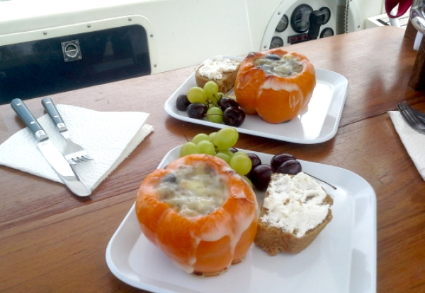beer bread and peppers