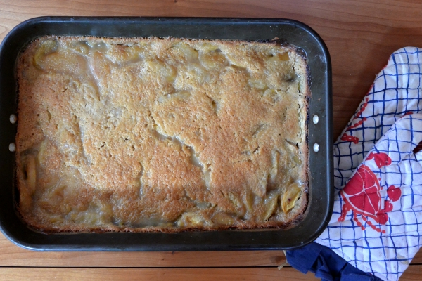 cobbler baked in pan