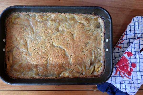 cobbler baked in pan