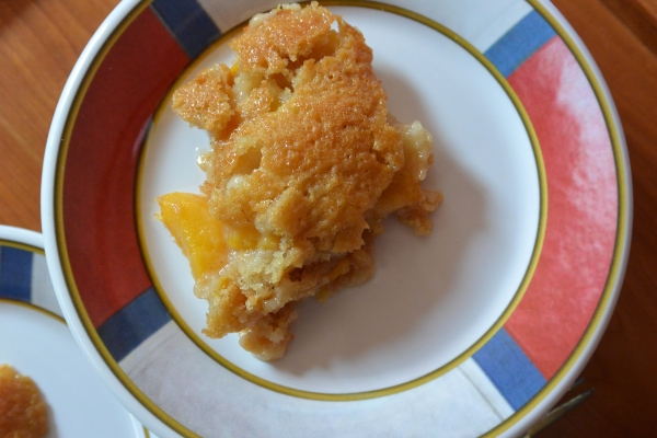 peach cobbler single from above