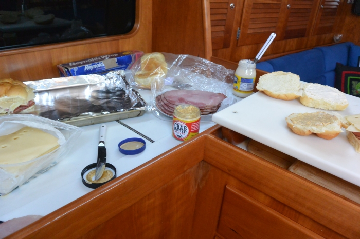 spreading out in the galley
