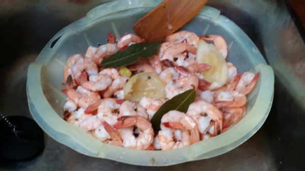Drain shrimp