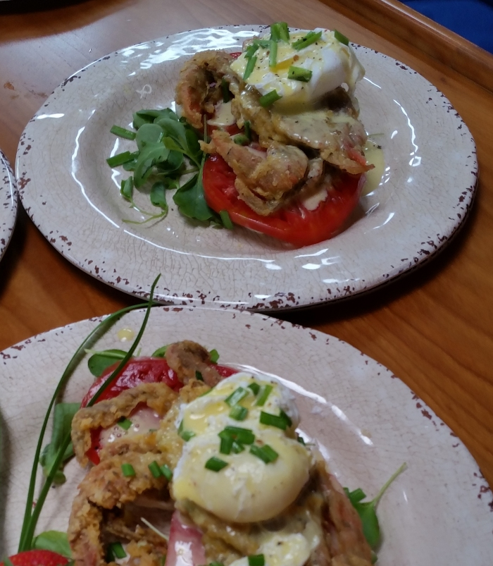 2 soft shelled crab benedict 1
